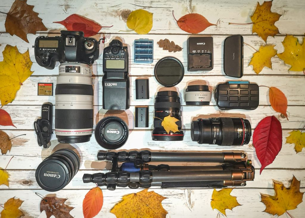 Canon Camera Gear Flatlay