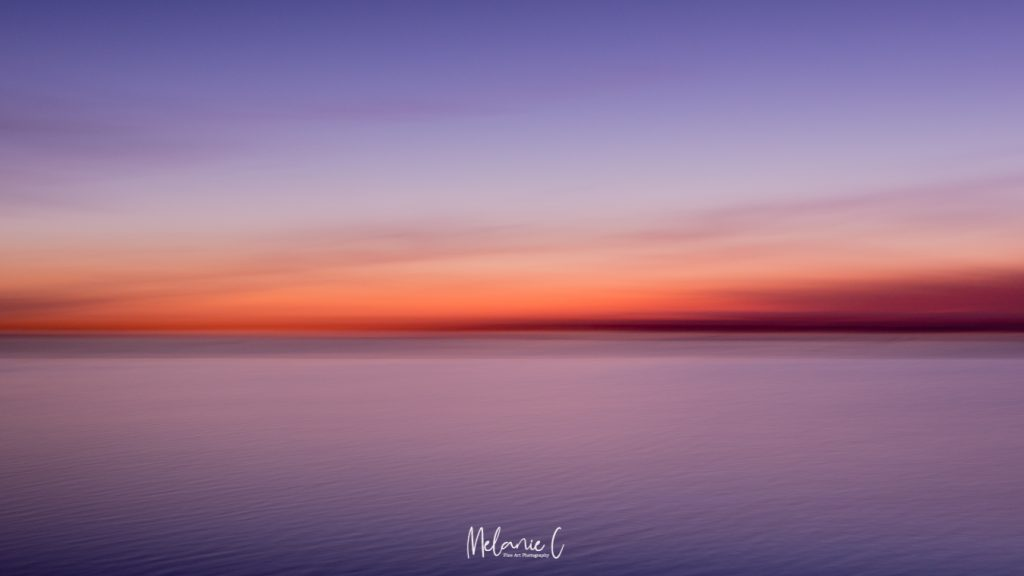 pink and purple seascape